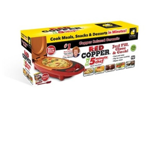 As Seen on TV Copper 5 Minute Chef Red