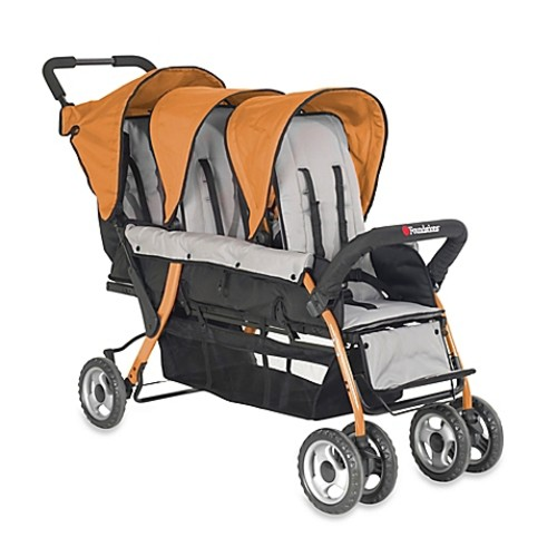 Foundations Trio Sport Splash of Color 3-Passenger Stroller in Orange