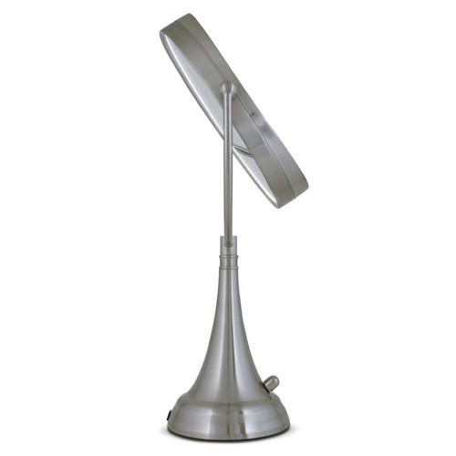 Zadro LEDOVLV410 - LED Lighted 10X/1X Oval Vanity Mirror with Satin Nickel Finish