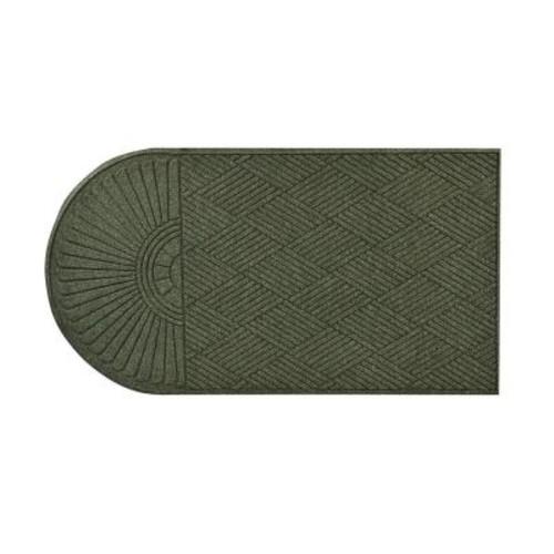 HomeTrax Designs Guzzler Sunburst Hunter Green 34 in. x 72 in. Rubber-Backed Door Mat