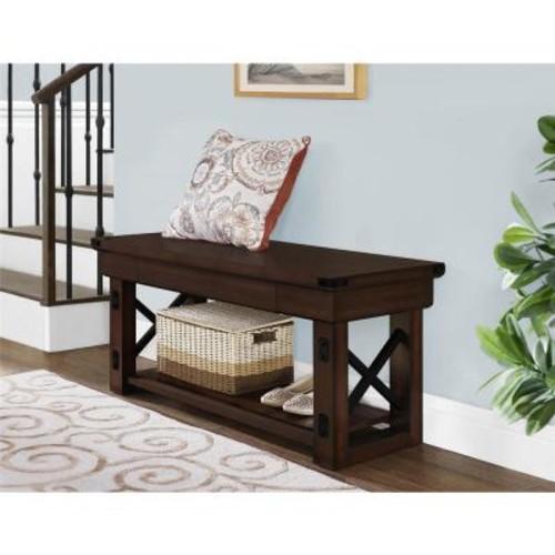 Altra Furniture Wildwood Mahogany Storage Bench