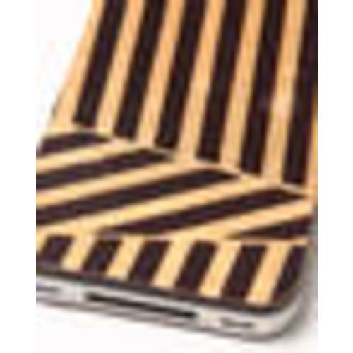 gold deco premium leather iphone sticker