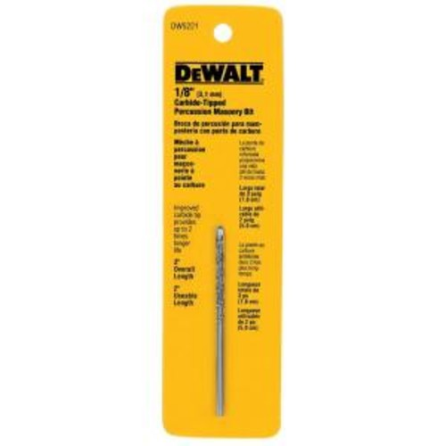 DEWALT 1/8 in. x 3 in. Carbide Tipped Percussion Drill Bit