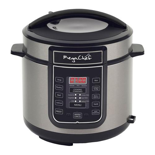 MegaChef 6-Quart Digital Pressure Cooker w/ 14Preset Features