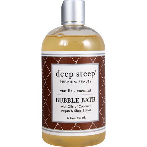 Deep Steep Coconut Oil Bubble Bath Vanilla Coconut -- 17 fl oz