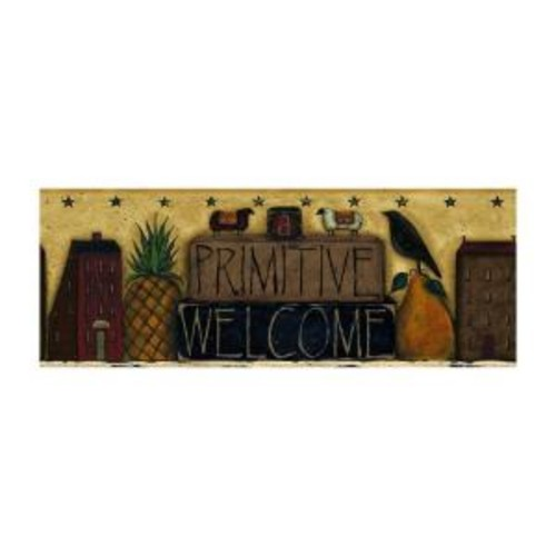 York Wallcoverings Best of Country Primitive Welcome Wallpaper Border