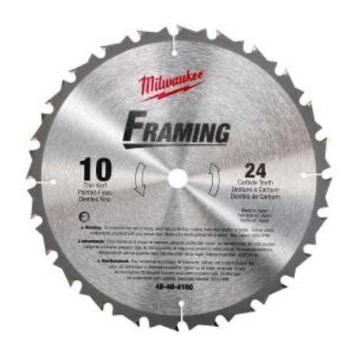 Milwaukee 10 in. x 24 Carbide Tooth Circular Saw Blade