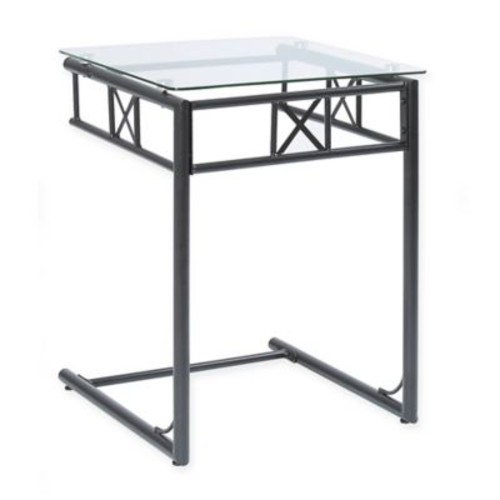 Metal Accent Table in Black