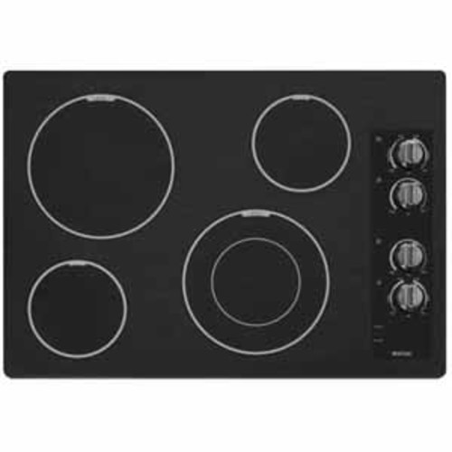 Maytag 30 inch Wide Electric Cooktop with Speed Heat Element - Black