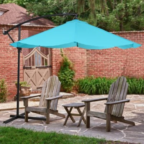 Pure Garden Offset 10 Foot Aluminum Hanging Patio Umbrella - Blue (M150008)