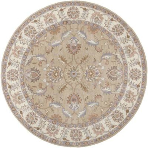 Artistic Weavers Chenni Beige 6 ft. x 6 ft. Round Indoor Area Rug