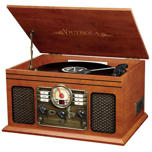 Victrola VTA-200B Wooden 6-In-1 Nostalgic Classic Turntable with Bluetooth