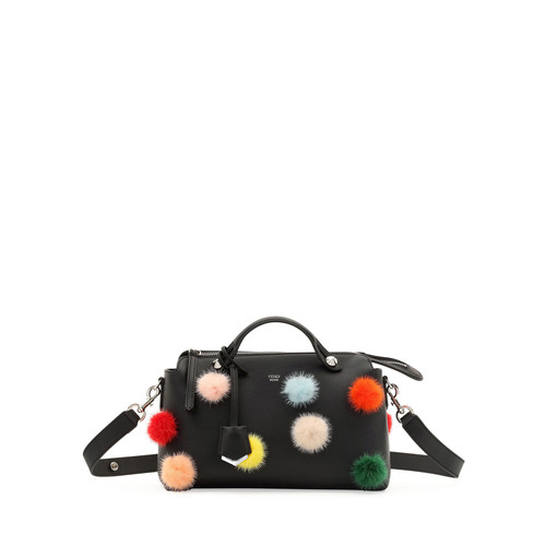 FENDI By The Way Medium Mink Pompom Satchel Bag
