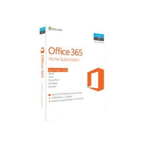 Microsoft Office 365 Home - Box Pack, 5 Phones, 5 PCs/MACs, 5 tablets, Non-Commercial, 32/64-bit, P2 - Win, Mac, Android, iOS, Windows Phone, Spanish, Puerto Rico, United States - 6GQ-00636