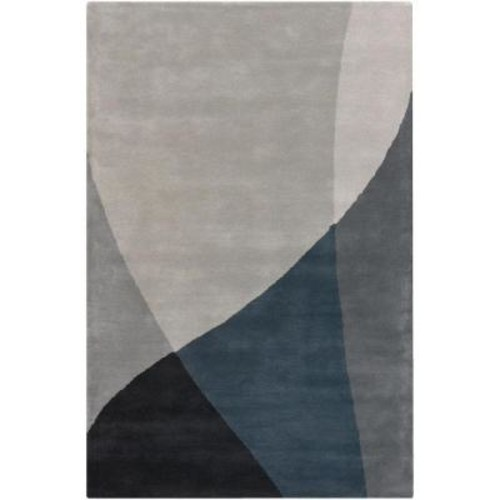 Chandra Bense Grey/Blue/Black 7 ft. 9 in. x 10 ft. 6 in. Indoor Area Rug