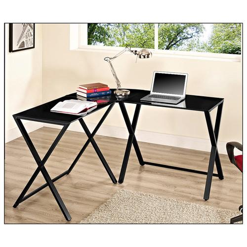 Walker Edison - Corner Computer Desk - Black
