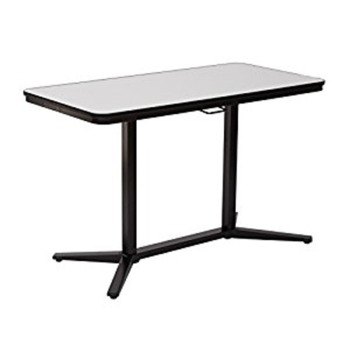 Pro-Line II Pneumatic Height Adjustable Table, White/Black