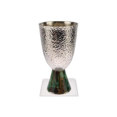 Los Castillo Silver Malachite Goblet