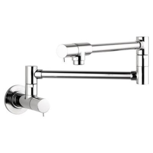 Hansgrohe Talis S Two Handle Wall Mounted Pot Filler Faucet; Chrome