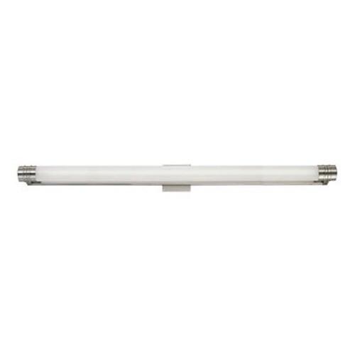 Darby Home Co Edison 1-Light Metal Bath Bar; Satin Nickel
