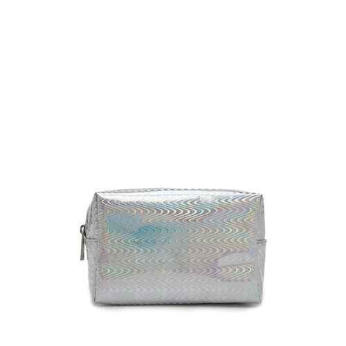 Holographic Wavy Makeup Bag