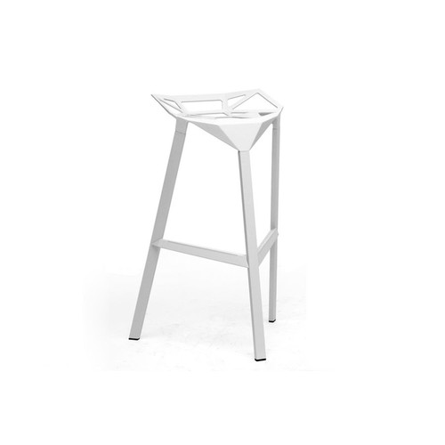 Baxton Studio Kaysa White Aluminum Modern Bar Stool (Set of 2)