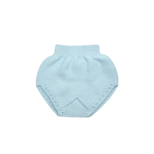 Blue Knitted Nappy