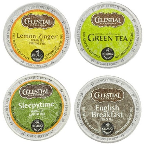Celestial Seasonings Tea Sampler Keurig Single-Serve K-Cup Pods Variety Pack, 22 Count [Tea Sampler, 22 Count]