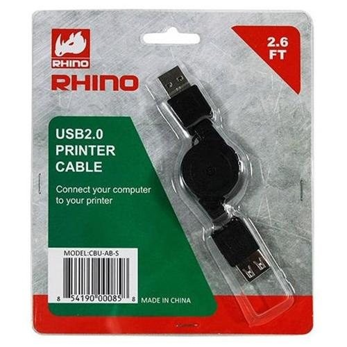 Raidmax CUBU-AB-S Rhino USB 2.0 Printer Cable ( A to B) Retractable Cable - CUBU-AB-S