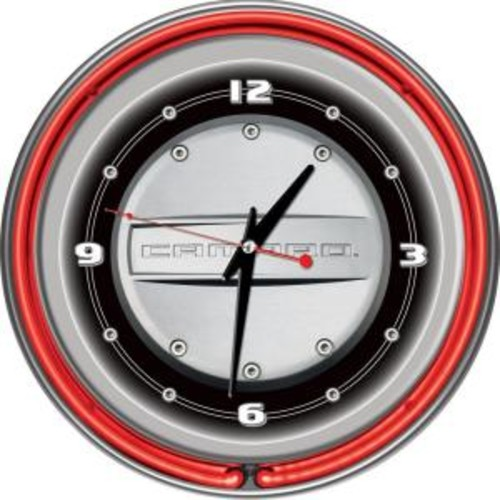 Trademark 14 in. Camaro Neon Wall Clock