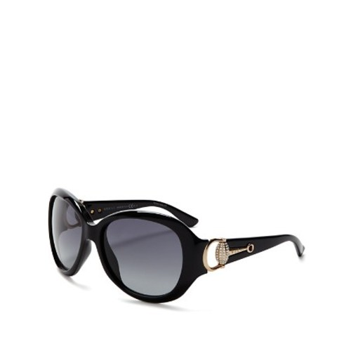 GUCCI Horsebit Oversized Square Sunglasses, 59Mm