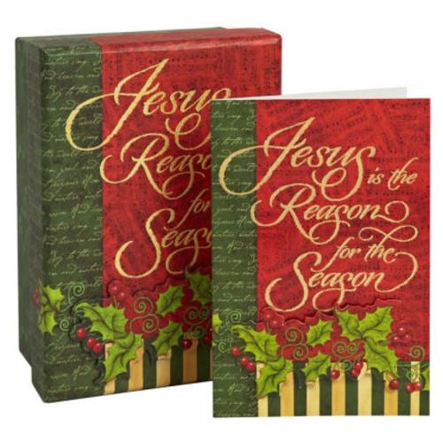 SACRED SEASON CHRISTMAS BOXED CARD