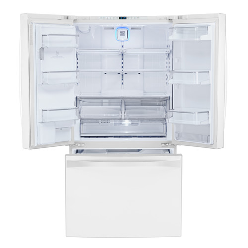 Kenmore Elite 75042 24 cu. ft. Counter-Depth Smart French Door Bottom-Mount Refrigerator-White