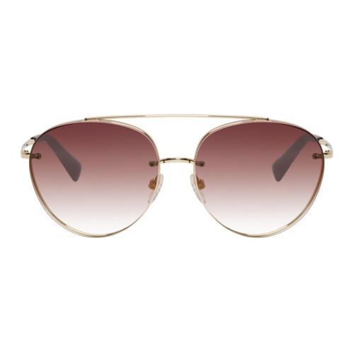 VALENTINO Gold Glamtech Ruth Sunglasses