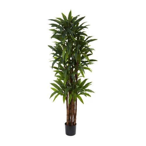 Nearly Natural Dracaena Silk Tree with 8-Trunks