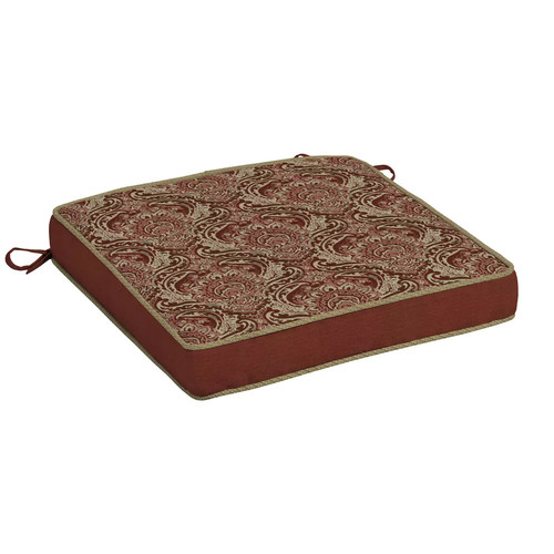 Bombay Outdoors Venice Damask 2-piece Reversible Chair Cushion Set