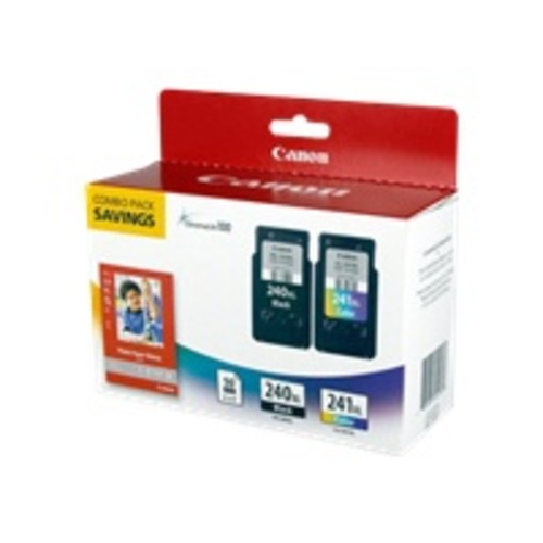 Canon 5206B005 (PG-240XL/CL-241XL) High-Yield Ink & Paper Combo Pack Black/Tri-Color