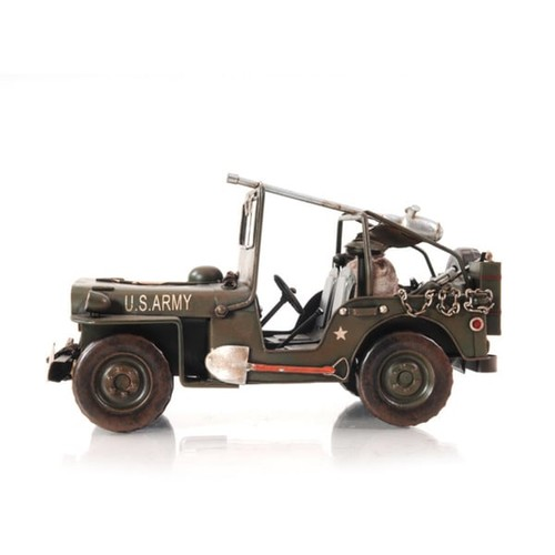 Green 1940 Willys-Overland Jeep 1:12 Scale Model