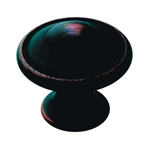 Amerock Allison Round Cabinet Knob 1-3/16 in. Dia. 1-1/16 in. Oil Rubbed Bronze 1 pk(BP53002ORB)