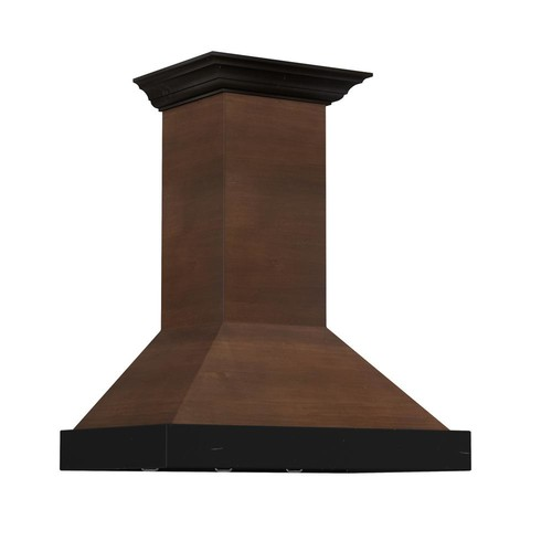 ZLINE Kitchen and Bath ZLINE 42 in. 760 CFM Designer Series Wooden Wall Mount Range Hood