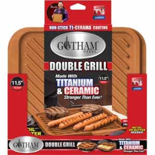 Gotham Double Grill - Titanium & Ceramic Nonstick Double Grill Pan