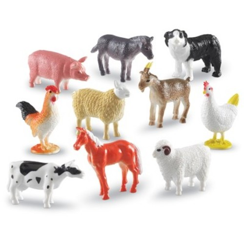 Learning Resources Farm Animal Counters Set - 60 Piece