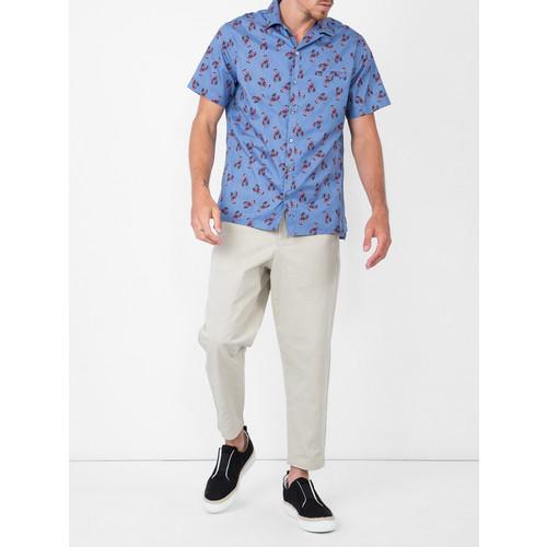 LANVIN Short Sleeve Lobster Print Shirt