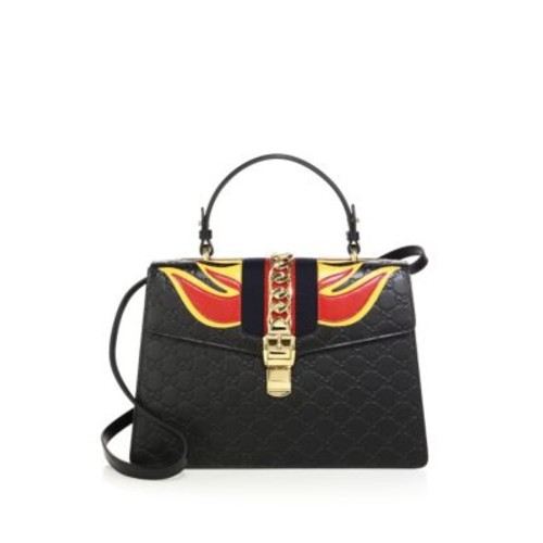 GUCCI Sylvie Medium Gg Leather Top-Handle Satchel