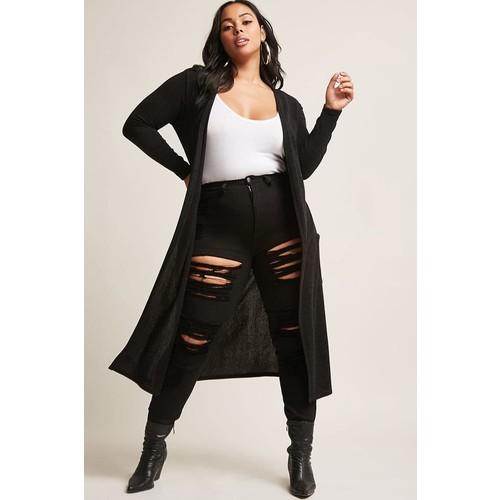 Plus Size Longline Cardigan