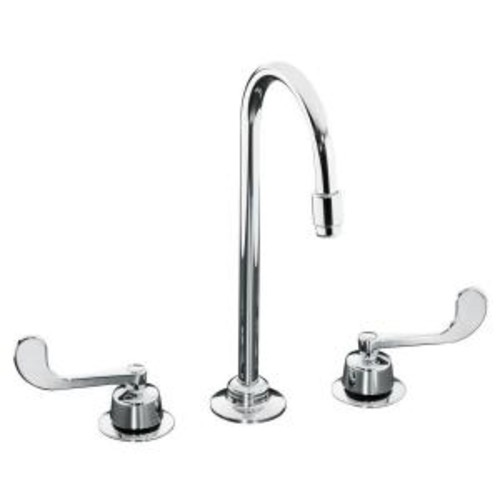 KOHLER Triton 8 in. Widespread 2-Handle Mid-Arc Spout Commercial Bathroom Faucet in Polished Chrome