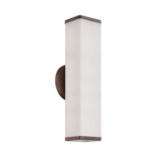Millennium Lighting 2-Light Rubbed Bronze Unique Wall Sconce with Shines Both Up and Down