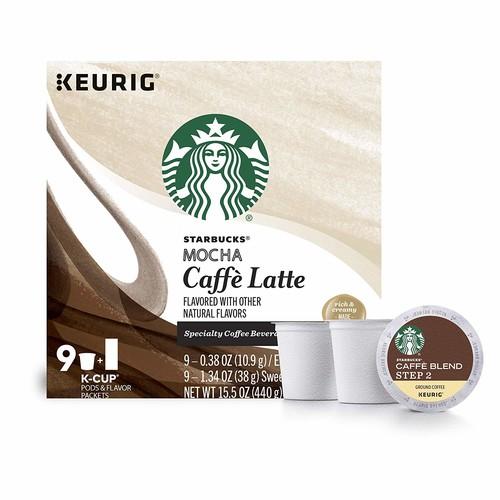 Starbucks Mocha Caffe Latte 15.5 oz, 9 cups