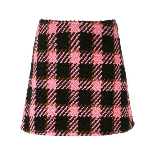 MARNI Three-Dimensional Checked Skirt