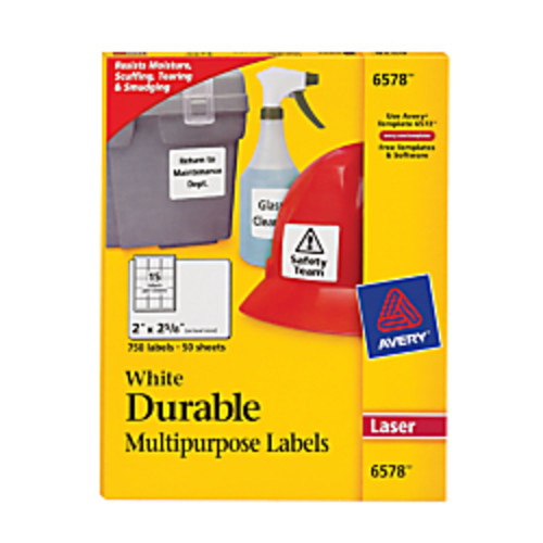 Avery Permanent Durable ID Labels With TrueBlock, 2
